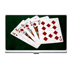 Poker Hands   Royal Flush Diamonds Business Card Holders by FunnyCow