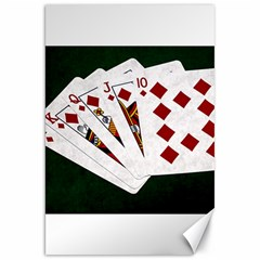 Poker Hands   Royal Flush Diamonds Canvas 20  X 30