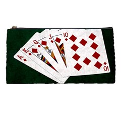 Poker Hands   Royal Flush Diamonds Pencil Cases by FunnyCow