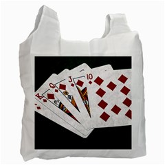 Poker Hands   Royal Flush Diamonds Recycle Bag (one Side) by FunnyCow