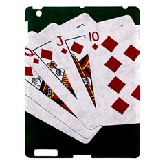 Poker Hands   Royal Flush Diamonds Apple Ipad 3/4 Hardshell Case by FunnyCow