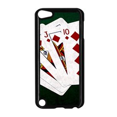 Poker Hands   Royal Flush Diamonds Apple Ipod Touch 5 Case (black) by FunnyCow