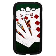 Poker Hands   Royal Flush Diamonds Samsung Galaxy Grand Duos I9082 Case (black) by FunnyCow