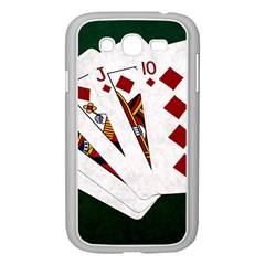Poker Hands   Royal Flush Diamonds Samsung Galaxy Grand Duos I9082 Case (white) by FunnyCow