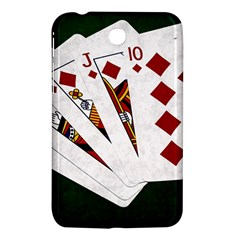 Poker Hands   Royal Flush Diamonds Samsung Galaxy Tab 3 (7 ) P3200 Hardshell Case  by FunnyCow