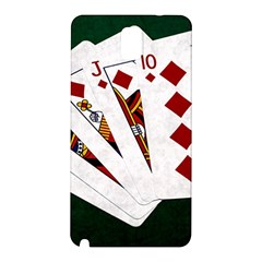 Poker Hands   Royal Flush Diamonds Samsung Galaxy Note 3 N9005 Hardshell Back Case by FunnyCow
