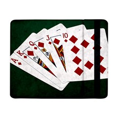 Poker Hands   Royal Flush Diamonds Samsung Galaxy Tab Pro 8 4  Flip Case by FunnyCow