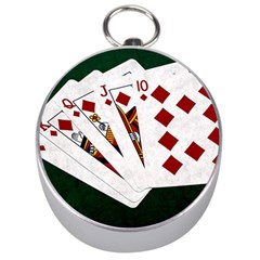 Poker Hands   Royal Flush Diamonds Silver Compasses by FunnyCow