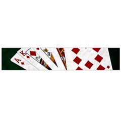 Poker Hands   Royal Flush Diamonds Large Flano Scarf  by FunnyCow