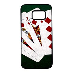 Poker Hands   Royal Flush Diamonds Samsung Galaxy S7 Black Seamless Case by FunnyCow