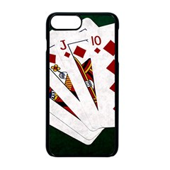 Poker Hands   Royal Flush Diamonds Apple Iphone 7 Plus Seamless Case (black) by FunnyCow