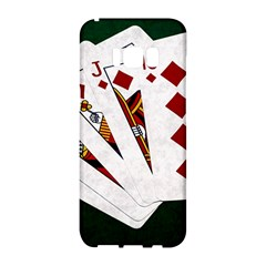 Poker Hands   Royal Flush Diamonds Samsung Galaxy S8 Hardshell Case  by FunnyCow
