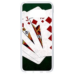 Poker Hands   Royal Flush Diamonds Samsung Galaxy S8 White Seamless Case by FunnyCow
