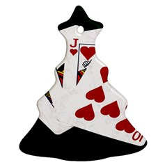 Poker Hands   Royal Flush Hearts Christmas Tree Ornament (two Sides) by FunnyCow