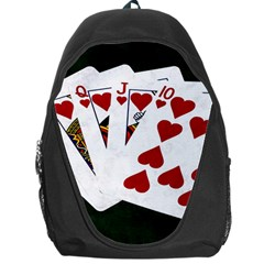 Poker Hands   Royal Flush Hearts Backpack Bag by FunnyCow