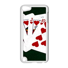Poker Hands   Royal Flush Hearts Apple Ipod Touch 5 Case (white) by FunnyCow
