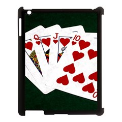 Poker Hands   Royal Flush Hearts Apple Ipad 3/4 Case (black) by FunnyCow