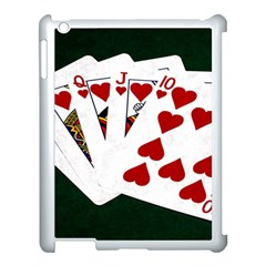 Poker Hands   Royal Flush Hearts Apple Ipad 3/4 Case (white) by FunnyCow
