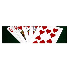 Poker Hands   Royal Flush Hearts Satin Scarf (oblong) by FunnyCow
