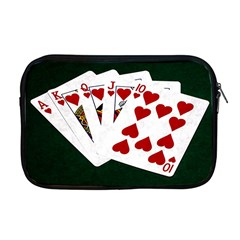 Poker Hands   Royal Flush Hearts Apple Macbook Pro 17  Zipper Case by FunnyCow