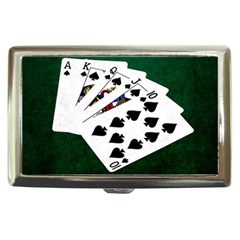 Poker Hands   Royal Flush Spades Cigarette Money Cases by FunnyCow