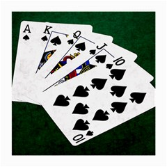 Poker Hands   Royal Flush Spades Medium Glasses Cloth by FunnyCow