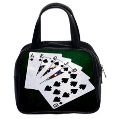 Poker Hands   Royal Flush Spades Classic Handbags (2 Sides) by FunnyCow