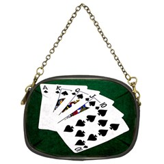 Poker Hands   Royal Flush Spades Chain Purses (two Sides)  by FunnyCow