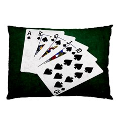 Poker Hands   Royal Flush Spades Pillow Case (two Sides) by FunnyCow