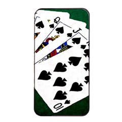 Poker Hands   Royal Flush Spades Apple Iphone 4/4s Seamless Case (black) by FunnyCow