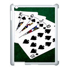 Poker Hands   Royal Flush Spades Apple Ipad 3/4 Case (white) by FunnyCow