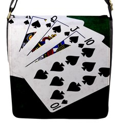 Poker Hands   Royal Flush Spades Flap Messenger Bag (s)