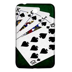 Poker Hands   Royal Flush Spades Samsung Galaxy Tab 3 (7 ) P3200 Hardshell Case  by FunnyCow