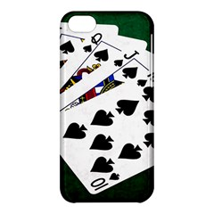 Poker Hands   Royal Flush Spades Apple Iphone 5c Hardshell Case by FunnyCow