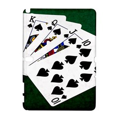 Poker Hands   Royal Flush Spades Samsung Galaxy Note 10 1 (p600) Hardshell Case by FunnyCow