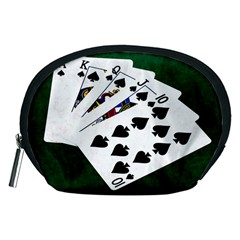 Poker Hands   Royal Flush Spades Accessory Pouches (medium)  by FunnyCow