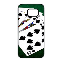 Poker Hands   Royal Flush Spades Samsung Galaxy S7 Edge Black Seamless Case by FunnyCow