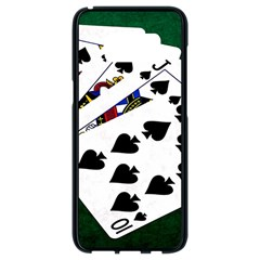 Poker Hands   Royal Flush Spades Samsung Galaxy S8 Black Seamless Case by FunnyCow