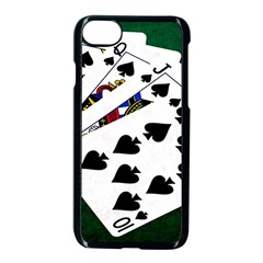Poker Hands   Royal Flush Spades Apple Iphone 8 Seamless Case (black) by FunnyCow