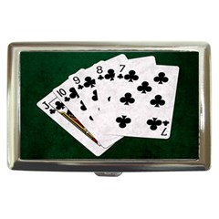 Poker Hands   Straight Flush Clubs Cigarette Money Cases by FunnyCow