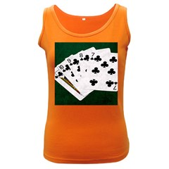 Poker Hands   Straight Flush Clubs Women s Dark Tank Top by FunnyCow