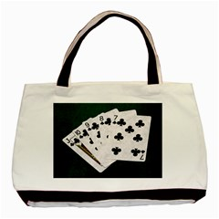 Poker Hands   Straight Flush Clubs Basic Tote Bag by FunnyCow