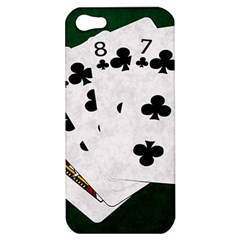 Poker Hands   Straight Flush Clubs Apple Iphone 5 Hardshell Case by FunnyCow