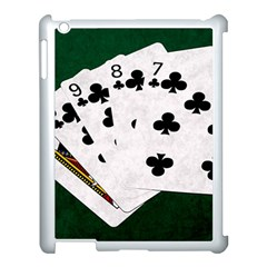 Poker Hands   Straight Flush Clubs Apple Ipad 3/4 Case (white) by FunnyCow
