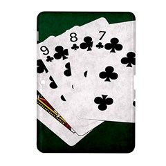 Poker Hands   Straight Flush Clubs Samsung Galaxy Tab 2 (10 1 ) P5100 Hardshell Case  by FunnyCow