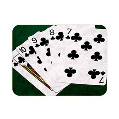 Poker Hands   Straight Flush Clubs Double Sided Flano Blanket (mini)  by FunnyCow