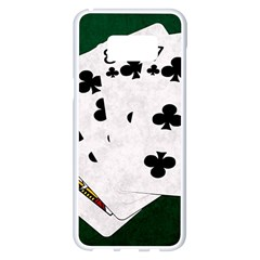 Poker Hands   Straight Flush Clubs Samsung Galaxy S8 Plus White Seamless Case