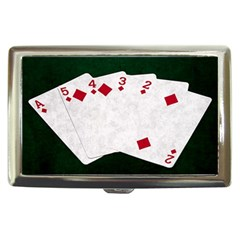 Poker Hands   Straight Flush Diamonds Cigarette Money Cases by FunnyCow