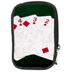 Poker Hands   Straight Flush Diamonds Compact Camera Cases by FunnyCow