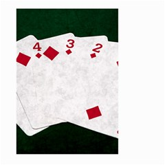 Poker Hands   Straight Flush Diamonds Large Garden Flag (two Sides) by FunnyCow